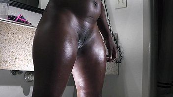a big butt ebony gets ready for the fuck table 3 min