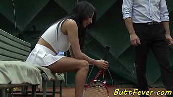 Woman tennis player reduced breast Bigtits eurobabe assbanged after tennis