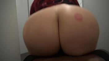 Riding dick in the dressing room