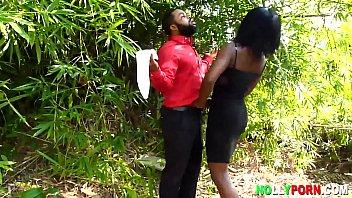 Honourable Krissyjoh Met and Fucked Lucy in The Bush While Inspecting His Site - NOLLYPORN