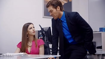 Perfect Secretary Got Facial Cumshot From Boss