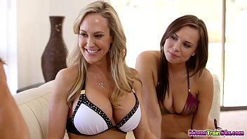 Holy cock Brandi love and aidra fox share cock