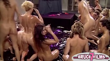 Busty strippers have hot lesbian sex