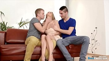Bisexual mmf threesome porn starring a passionate blondie