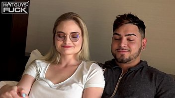 Big Dick Latino Goes Hard On Nerdy Slut With Glasses Then She Gets Director To Titty FUCK Her And Finish All Over Those Big Floppy Teen Cans