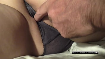 pussy fingering wet panty watching tv