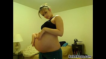 Pregnant Girl Does A Striptease In Her Room