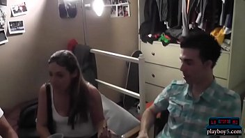 Dorm room party with college teens turns quickly into sex 6 min