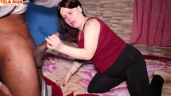 NAUGHTY ANANZINHA SHOWING HER SKILLS IN THE DEEP THROAT WITH A HUGE BLACK STAFF