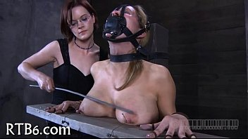 Bondage example Gal is forced to example turd