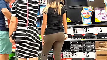 blond in yoga pants