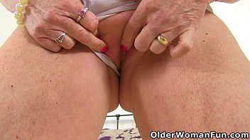 English gilf Sensual Caroline is up to no good in white lingerie and long boots (brand NEW video available in Full HD 1080P). Bonus video: English granny Georgie Nylons.