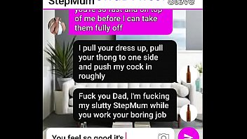 Texting milf Sexy milf stepmum get seduced by her naughty son roleplay