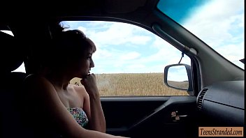 Big nipples teen hitchhikes and screwed by stranger dude