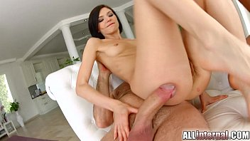 All Internal hottie Lina gets her holes filled in threesome