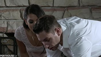 Penthouse Pet Gina Valentina Loads a Huge Cock up with Spit before Deepthroat