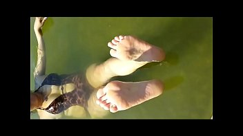 Mature cute toes Feet dangling in the water fetish obsession