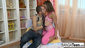 Young bubbly brunette is more than happy to get fucked