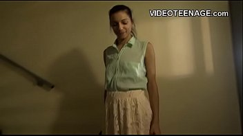 skinny teen  shows her anus during first casting