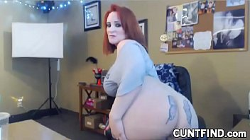 Curvy BBW with butterfly tattoo on ass