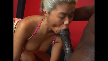 Mature asian sucks huge black cock Thumb