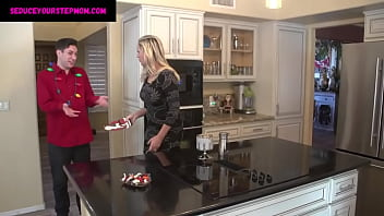 Lustful Stepmom's Christmas Party Without Daddy