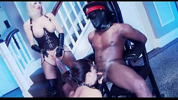 Interracial Mistress femdom roleplay with 2 women Blowing a Stud
