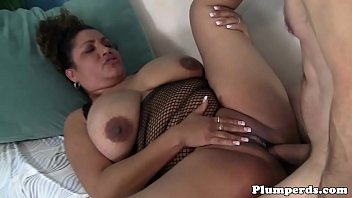 Ebony bbw cockriding after titfucking and bj