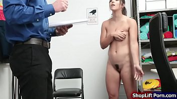 Teen thief pussy rammed by store officer
