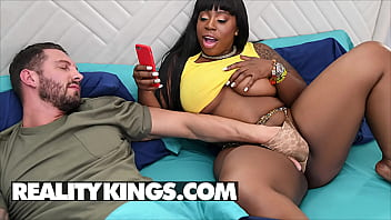 Voluptuous Chick (Ms London) Gets Her Fat Pussy Slammed Her Mouth Filled With Cum - Reality Kings