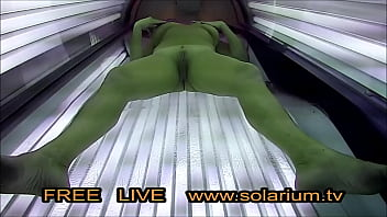 Horny milf masturbating on hidden cam - Horny blonde milf masturbated on tanning bed in real public tanning salon. reallifecam on the solarium, 20 real hidden webcam and spy camera under the tanning bed.