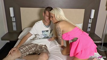 German Teen Tight Tini at Real Userdate with Young Guy and massive load Facial