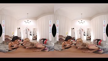 Naughty America - Casca Akashova, Devon & Reagan Foxx fuck in the famous Dressing Room