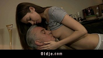 The little bitch anal fuck with old cock
