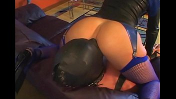 Leather dominatrix fetish - Femdom facesitting in leather and lingerie