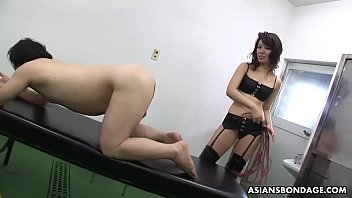 Remi Kawamura is a perfect Mistress with a strap- on