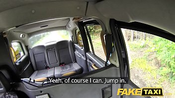 Fake Taxi Golden shower for hot lady followed by some kinky anal sex