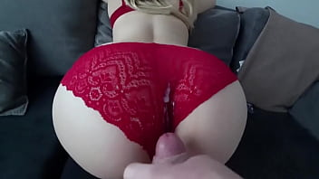 Fucking her with her panties on