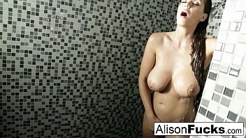 Alison Tyler showers and plays with her tight pussy