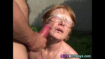 Mature glasses link - Granny in glasses face showere with cum