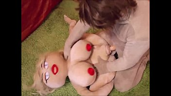 Sex Doll Fucked  In All Three Holes oles