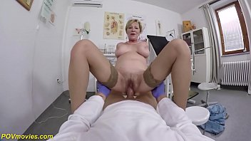 hairy 71 years old mom b. pov fucked by her doctor