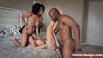 Black Adoptive Parents Fuck Foster Daughter in Threesome   September Reign, Emma Hix
