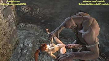 Kasumi destroyed by Giant Cyclop getting stomach bulged