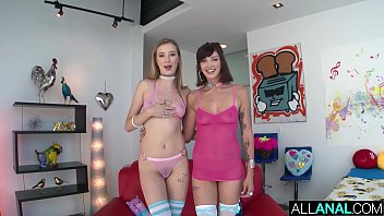 ALL ANAL Anal creampie for Haley Reed and Leah Winters
