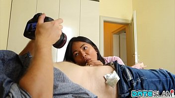 Young Asian babe gets cum fed on 1st date - Part 1