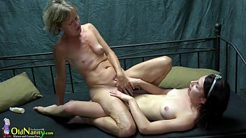 Old lesbians sex Oldnanny two lesbians girl is enjoying with toy