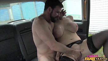 Marine gives a busty female taxi driver a rough fuck