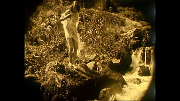 1920 s retro nudes Nude woman by waterfall 1920