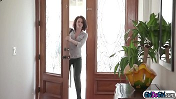 Abella anal toying when wife comes home and asks her to join